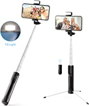 Hpory Selfie Stick Tripod Wireless Bluetooth Remote with 3 Level Fill Light Phone Selfie Stick Compatible with iPhone 11/11Pro/XS/XS Max/XR/X/8P/7P,Galaxy S10/S9/8 and More(Extensible to 43.3inch)