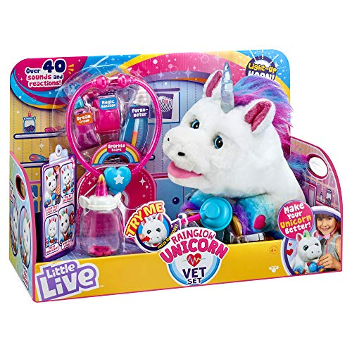 Little Live Pets Rainglow Unicorn Vet Set - Interactive Pet Unicorn, Multicolor