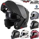 Casque de moto V271 BLINC modèle VCAN - Modulable - Bluetooth - Visière rabattable - Pour le...