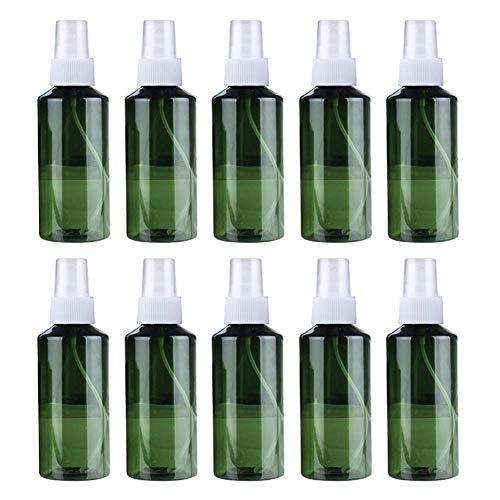 10 botellas de espray de 200 ml, pequeñas y transparentes, vacías, finas y finas, para maquillaje, cosméticos, perfumes, botellas de viaje, portátiles