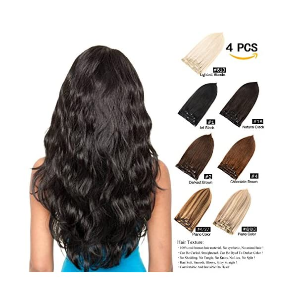 Beauty Shopping GEELOOK 14″ Clip in Hair Extensions Double Weft 100% Remy Human Hair Grade