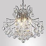 LightInTheBox - Araña de cristal contemporánea y moderna de 6 bombillas. Fijación ligera al techo moderna y colgante. ideal para el dormitorio, el salón, el comedor, el recibidor o el pasillo