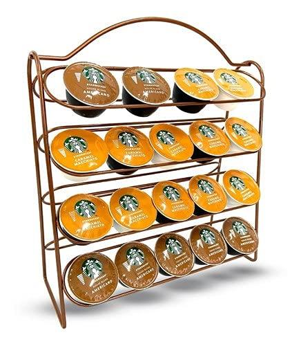 Suporte Organizador Porta 40 Cápsulas de Café Dolce Gusto (Cromado)