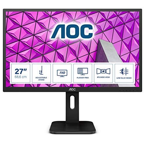 """AOC Pro-Line 27P1 Pantalla para PC 68,6 cm (27"""") Full HD LED Plana Mate Negro - Monitor (68,6 cm (27""""), 1920 x 1080 Pixeles, Full HD, LED, 5 ms, Negro)"""