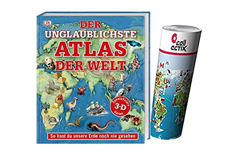 DK Verlag Der unglaublichste Atlas der Welt: So hast du unsere Erde noch nie gesehen (Gebundene Ausgabe) + Kinder Wimmel Weltkarte - Länder, Tiere, Kontinente