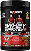 Whey Protein Powder | Six Star Whey Protein Plus | Whey Protein Isolate & Peptides | Lean Protein Powder for Muscle Gain | Muscle Builder for Men & Women | Chocolate, 2 lbs (package may vary)
