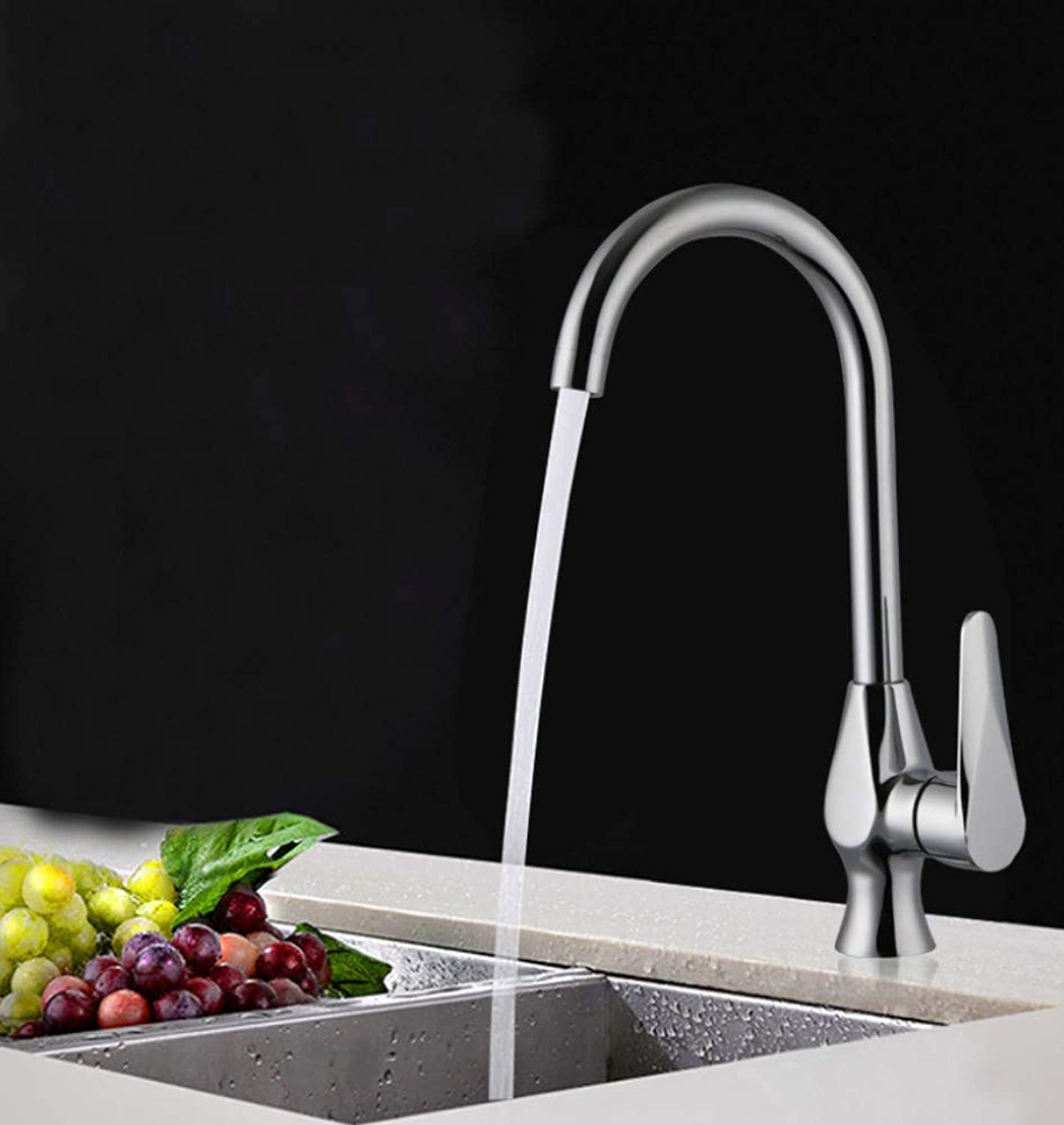 redOOY Copper faucet 360 degree redating kitchen sink hot and cold water faucet hot and cold water faucet
