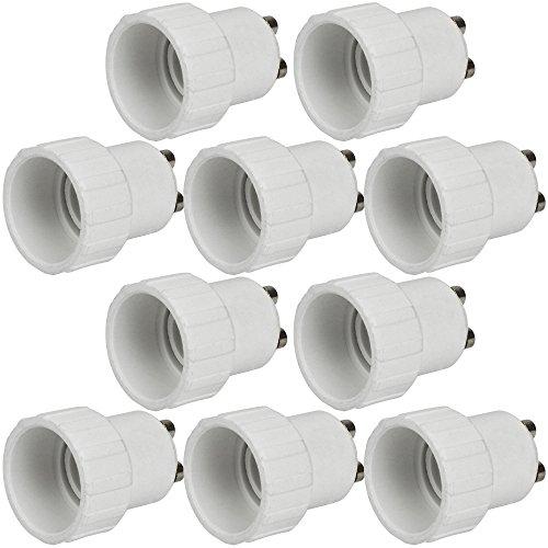 MENGS 10 Stück Lampensockel Adapter Konverter GU10 Fassung auf E14 Lampensockel Lampenadapter für LED, Halogen und Energiesparlampen
