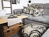 beties Mystik Mitteldecke ca. 80×80 cm in interessanter Größenauswahl hochwertig & angenehm 100% Baumwolle Farbe Toffee-Schwarz - 4