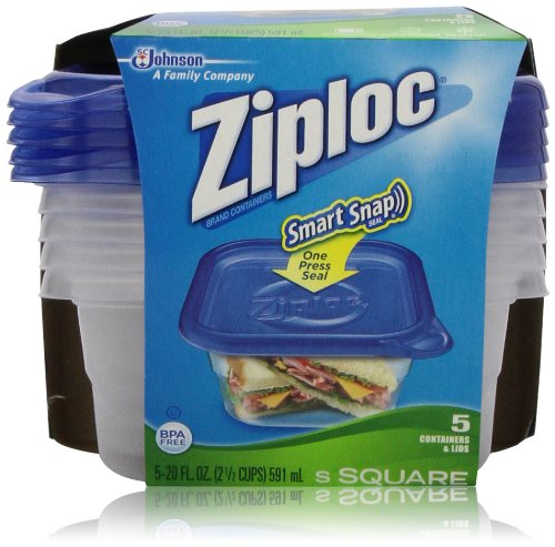 Find Discount Ziploc Short Square 20 Ounce Containers, 5 Sets