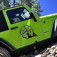 WSCLCP 2PCS車のドアサイドステッカーフィルム自動装飾デカール、防水SUVフォードシェビー自動車車のチューニングアクセサリー用