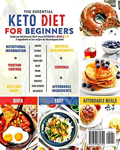 The Essential Keto Diet for Beginners #2020: 5-Ingredient Affordable, Quick & Easy Ketogenic Recipes | Lose Weight, Cut Cholesterol & Reverse Diabetes | 30-Day Keto Meal Plan 2