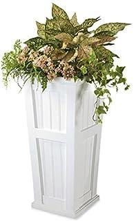 "Plow & Hearth 52234-WH Tall Planter, 15.5"" x 32"", White"