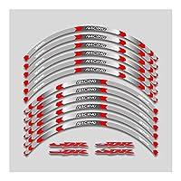 オートバイの燃料タンクステッカー ホンダCBR250RR CBR400RR CBR400RR CBR1000RRオートバイホイールデカール防水反射ステッカーリムストライプ モーターサイクルガスタンクパッド保護デ (Color : 6)