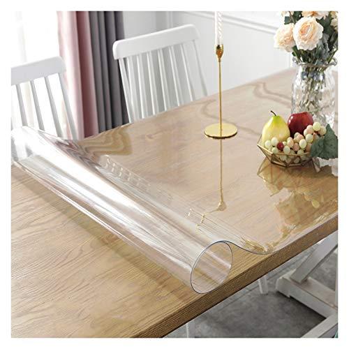 LSSB Transparente/Translúcido Wash-Libre Mantel Cortable Estera De Protección Suelo Cubierta Helada Mesa De Plástico 1,5/2,0 Mm De Espesor Translúcido PVC Protector De Mesa para El Hogar Moqueta