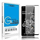 Samsung Galaxy S20 Ultra Screen Protector, Yunerz Support Fingerprint Sensor Full Screen Coverage Tempered Glass Screen Protector for Samsung Galaxy S20 Ultra 5G 6.9inch 2020 (Black)