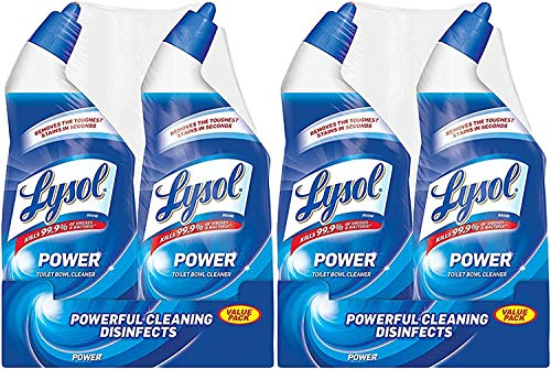 Lysol Power Toilet Bowl Cleaner, 48oz (2X24oz), 10X Cleaning Power (96 Ounce)