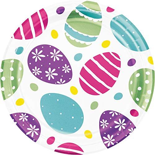 Foil Easter Eggs Dessert Plates, 24 ct
