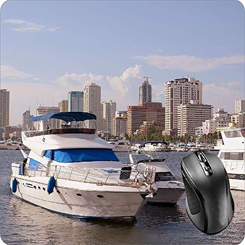 Mouse Pad Fabric Topped Gummi Yacht Marina Boot Luxus Tiefseefischen