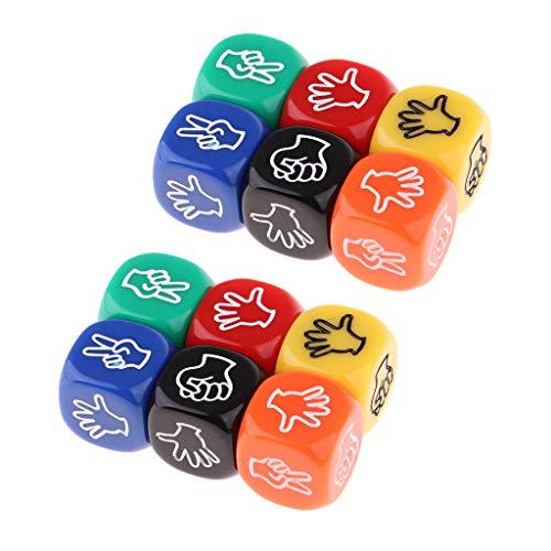 Harilla 12x Dados para Adivinar con Los Dedos para MTG Party Club Juegos de para Beber Juguete de Casino