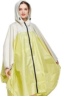 キャンプ/旅行/登山のための携帯用大人のフード付きの再使用可能な防水レインコート/ポンチョ (色 : A)