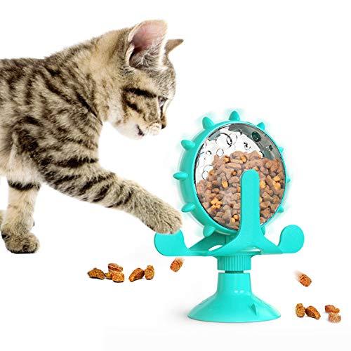 Ossky 360 ° Multifunktionale Rotierende Windmühle Futter Undichtes Spielzeug mit Leistungsstarkem Saugnapf Futterausgabe Linderung Von Angst Tumtable Fun Katzenspielzeug
