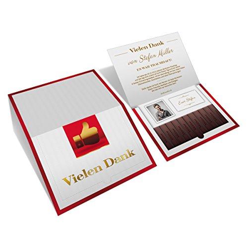 Bedankkaarten - Bedankt chocolade motief - bedankkaarten