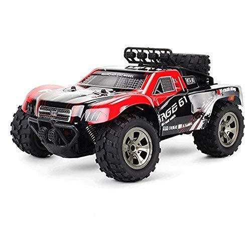 Poooc Coche teledirigido,  1/18 Escala profesional en las cuatro ruedas del carro de monstruo 4WD rápido 18km eléctrico RC Vehículo de todo terreno/h regalos de juguetes de alta velocidad Buggy todo