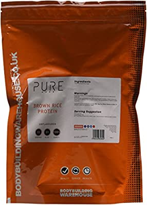 Bodybuilding Warehouse Pure Brown Rice Protein Concentrate 80 Powder 1 kg from Bodybuilding Warehouse