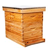 8-Frames Complete Beehive Kit, Wax Coated Bee Hive Includes Frames and Beeswax Coated Foundation Sheet (2 Layer)