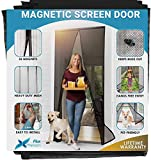 Cheelom Puerta de pantalla magnética Malla para puerta, Film para puerta, con sello magnético de cierre automático súper hermético y malla de poliéster duradera, cinta de montaje del marco...