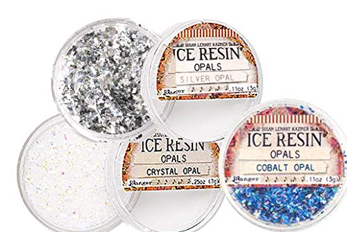ICE RESIN Inclusions Set - Iced Enamels, Glass Glitter or Glitter Shards &/or Mica - 3-Pack of Ice Resin Inclusions in Coordinating Colors (Opals)