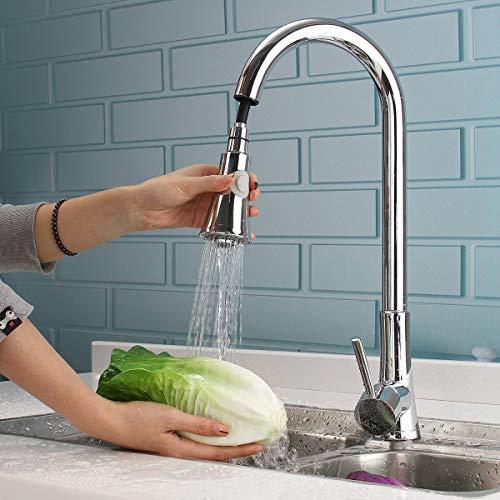 BASDW Flexible Chrome Brass Pull out Kitchen Sink Grifo de una Sola Palanca Mezclador Grifo de Lavabo de Lavabo de baño