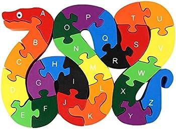 Koogel lovestown Alphabet Jigsaw Puzzle Blocks Animal Wooden Puzzle