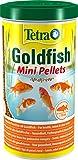 Tetra Pond Goldfish Mini Pellets Fischfutter - für kleine Goldfische und Kaltwasserfische im Gartenteich, 1 L Dose