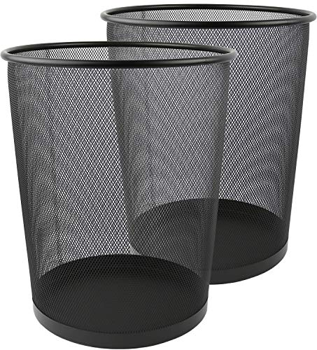 Greenco GRC2708 Round Mesh Wastebasket Trash Cans, 6 Gallon, 2 Count