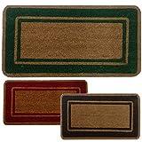 Parpyon® Felpudo para entrada de casa clásico, 33 x 70 cm, alfombra antideslizante felpudo de coco para interior, felpudo de exterior, alfombras modernas, felpudos (verde33 x 70 cm)