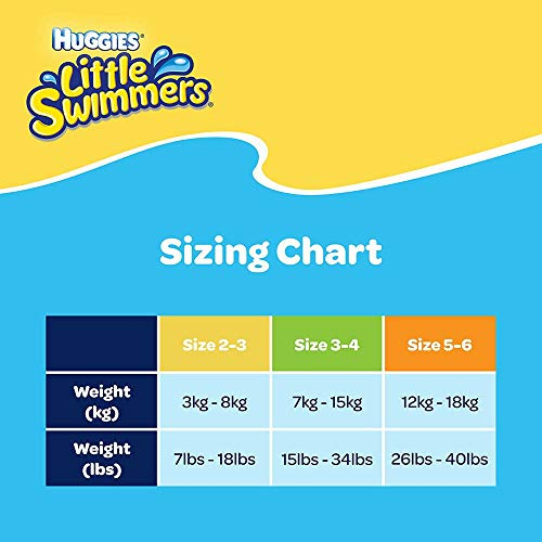 Huggies Little Swimmers Disposable Swim Diapers, Small, 12-Count