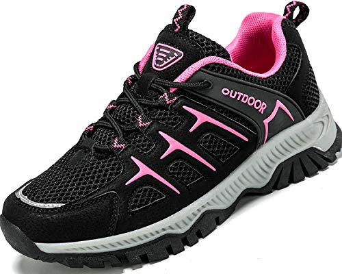 Lvptsh Zapatillas de Trekking para Mujer Transpirable Zapatillas de Senderismo Calzado de Trekking AL Aire Libre Antideslizantes Botas de Montaña,Rosa-2,EU39
