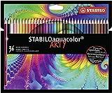 Matita colorata acquarellabile - STABILOaquacolor - ARTY - Astuccio da 36 - Colori assortiti