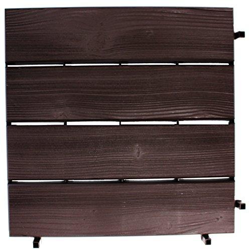 1 x kunststoftegel hout-look 40 x 40 cm houten tegel terrastegels balkontegel vloertegel