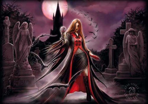 empireposter Anne Stokes - Blood Moon - Posterflagge 100% Polyester - 110x75 cm