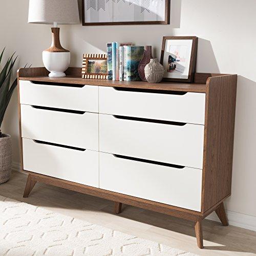 Baxton Studio 6-Drawer Mid Century Modern Storage Dresser