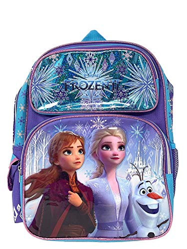 Disney Frozen 2 Elsa & Anna Kids Backpack 16' Large Bag- 19214