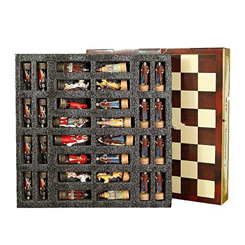 BECCYYLY Pieza de ajedrez de Resina Internacional con temática Rusa Vs Mongolia,...