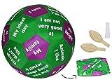 alles-meine.de GmbH XL - Lernspielball - Kennenlern Spiel ENGLISCH - zum Kennen Lernen Lernball für Kinder Erwachsene Kennenlernspiel - Lernspielball - Spielend für Kinder Erwach..