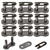 HIAORS 420 Chain Master Link Roller Chain Connector Link for 90cc 110cc 125cc Pit Dirt Bike ATV Quad Buggy Pack of 10