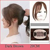 女性の髪個目に見えないシームレスなレミーの交換のためのヘアウィッグ前髪人間の髪の3Dエア前髪のブラジルクリップ,B