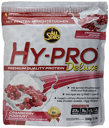 All Stars Hy-Pro Deluxe, Cranberry Joghurt, 1er Pack (1 x 500 g)
