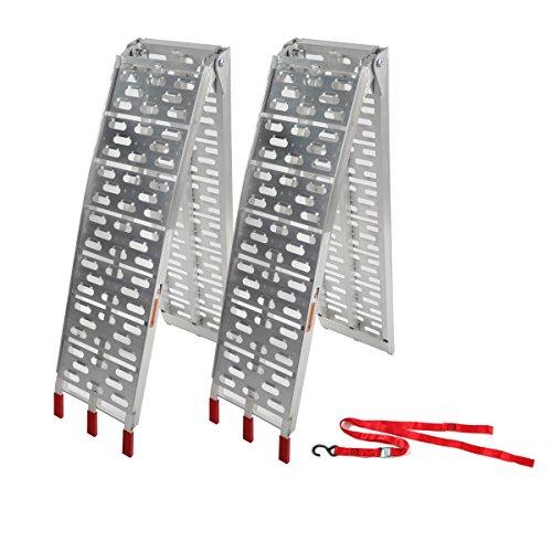 Motorhot 2 Pcs Aluminum Folding Loading Ramps